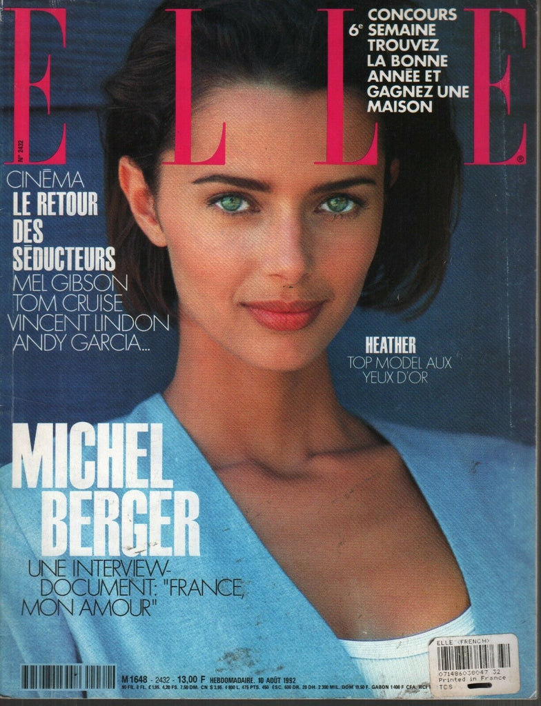 Elle French Fashion Magazine 10 Aout 1992 Michel Berger 091819AME2