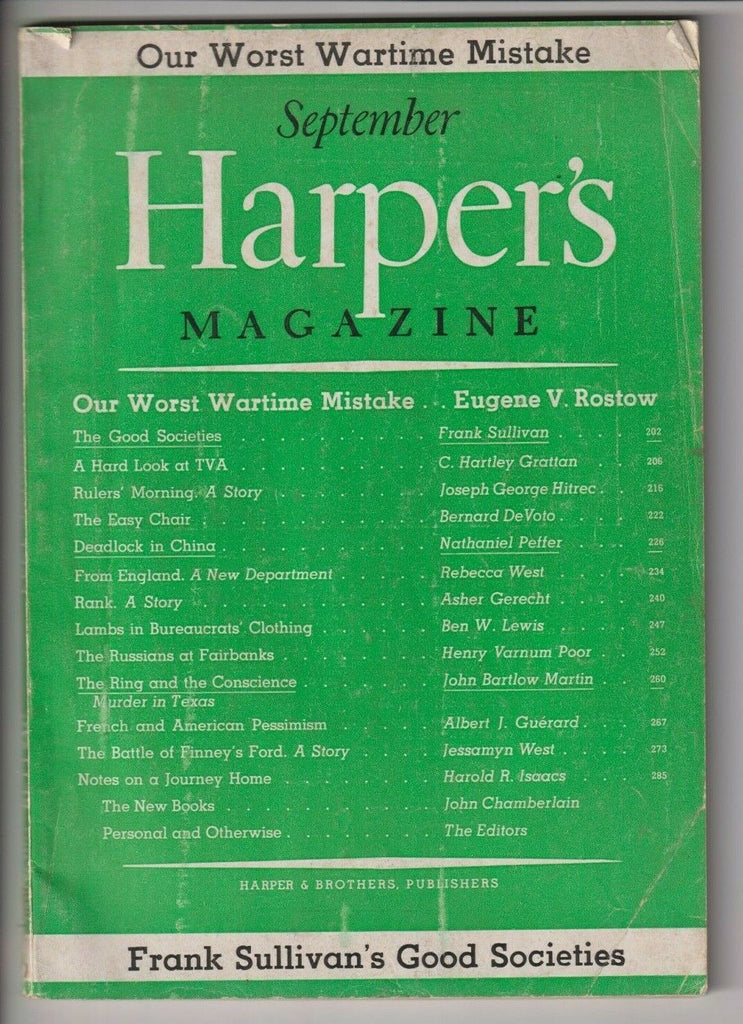 Harper's Magazine Our Worst Wartime Mistake September 1945 112219nonr