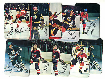 11 Card Lot of 1977 Topps Insert Hockey Cards, couple dupes jh18