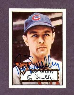 Autographed Signed 1952 Topps Reprint Series #173 Roy Smalley w/coa jh33