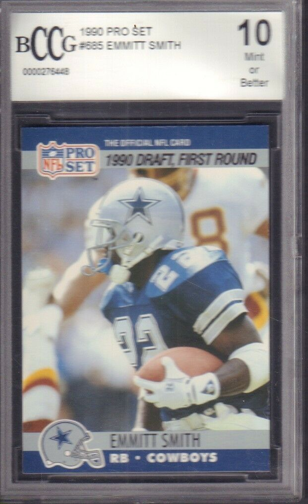 Emmitt Smith 1990 Pro Set Beckett 10 021218DBET