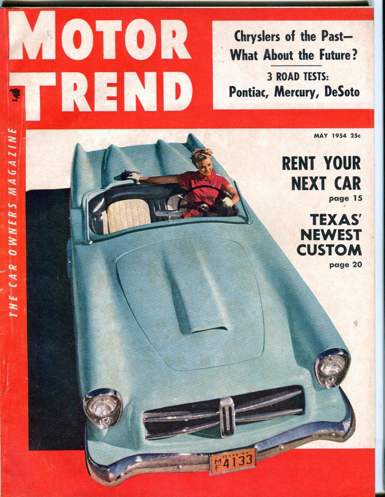 Motor Trend Magazine May 1954 Pontiac Mercury EX No ML 053017nonjhe