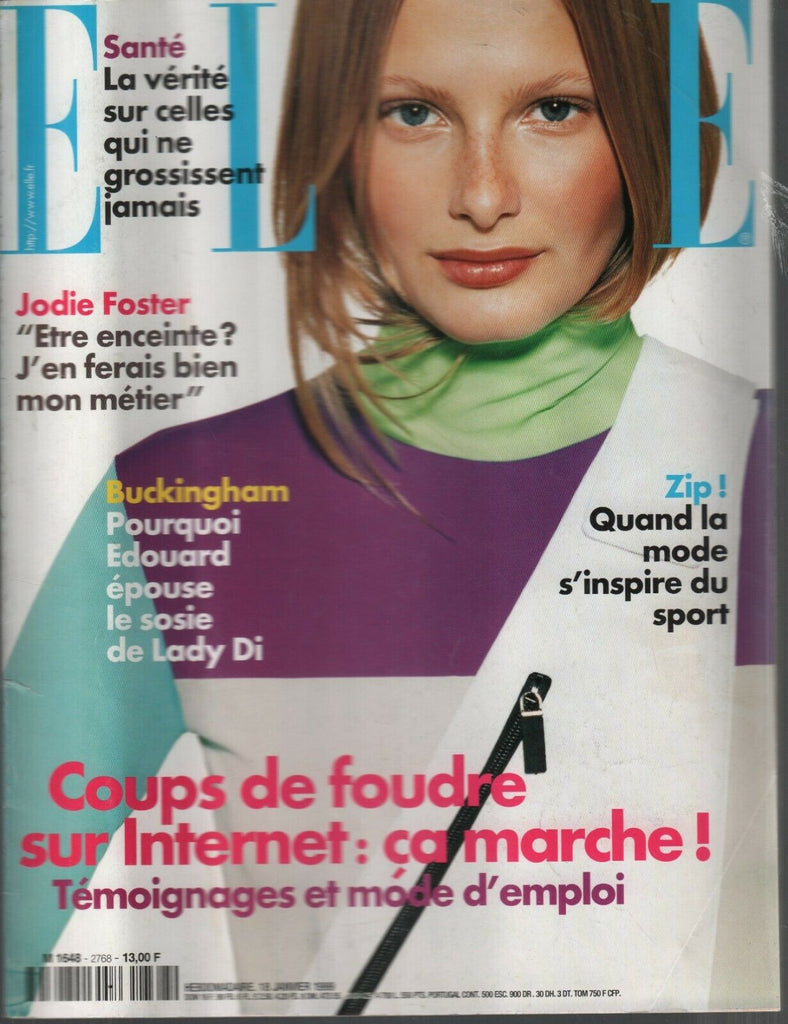 Elle French Magazine 18 Janvier 1999 January Jodie Foster Buckingham 090919AME
