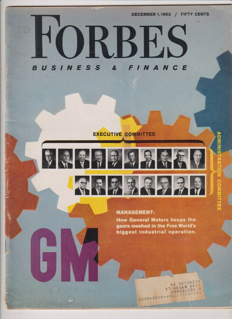 Forbes Mag GM Admin Committee December 1, 1962 110119nonr