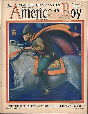 American Boy January 1931 Manning Dev. Le, The Light of Bruges w/ML VG 021916DBE