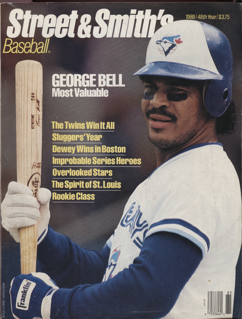 Street & Smiths Baseball 1988 48th Year George Bell 041020DBE