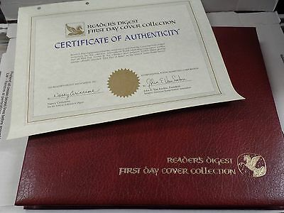 Reader's Digest First day Cover Collection in Binder with COA 78-80 041916ame