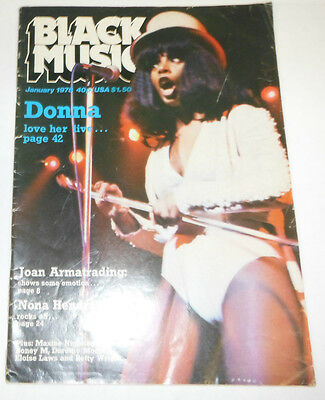 Black Music Magazine Donna Summers & Joan Armatrading January 1978 071514R