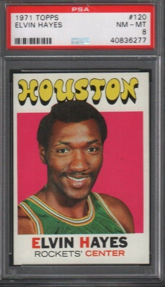 Elvin Hayes Houston Rockets 1971 Topps #120 PSA 8 072018DBCD