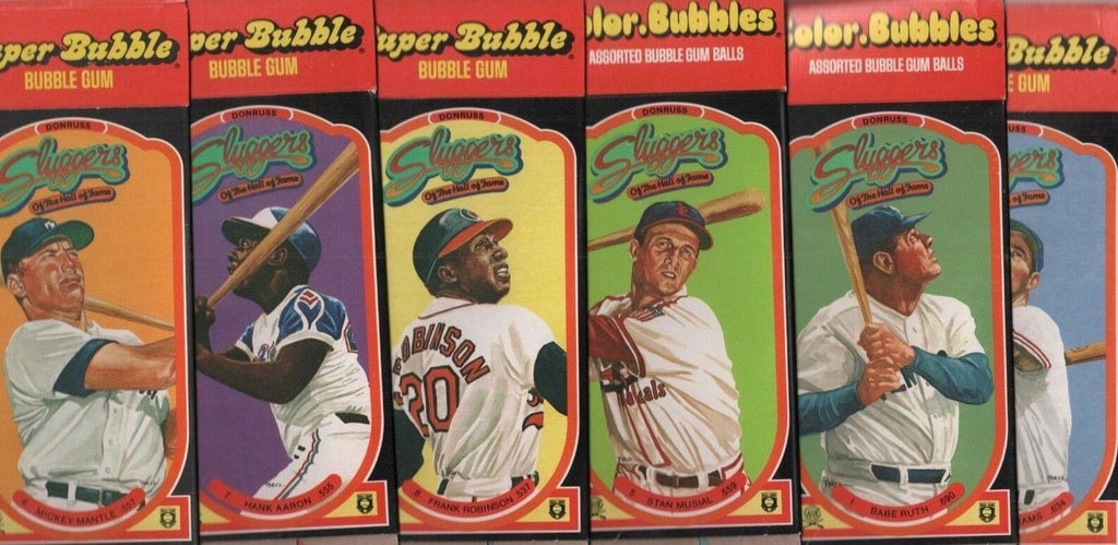 1985 Donruss Sluggers of the HOF Box Only Set of 8 Ruth - Robinson 091118DBT