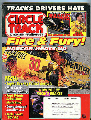 Petersen's Circle Track Magazine July 1996 Fire & Fury! NASCAR VG 060316jhe