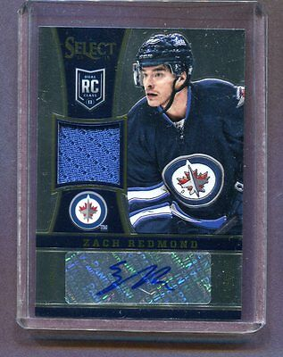 2013-14 Panini Dual RC Class #239 Zach Redmond Jets Autographed Patch jh4