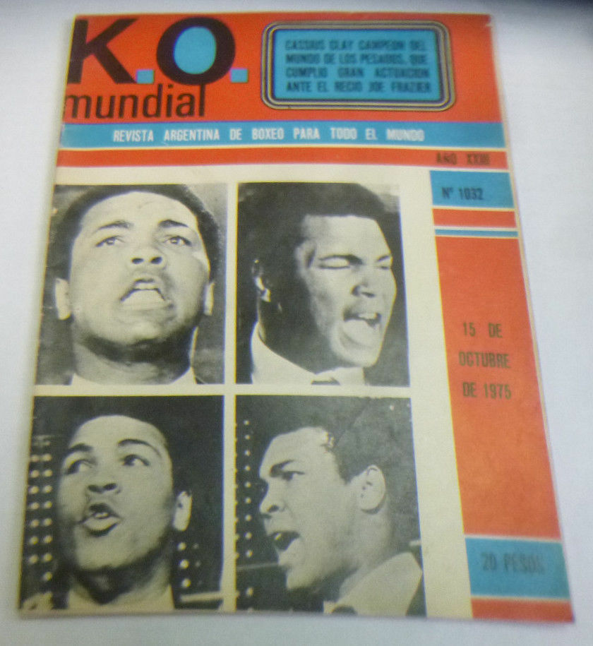 K.O. Vintage Argentinean Boxing Mag lot of 200+ Issues Ali, Clay, Foreman KOR1