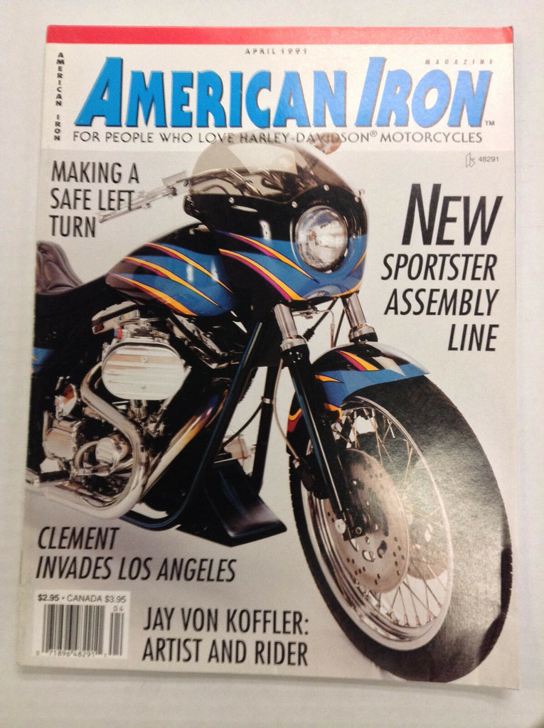 American Iron Magazine Sportster Assembly Line April 1991 031017NONRH