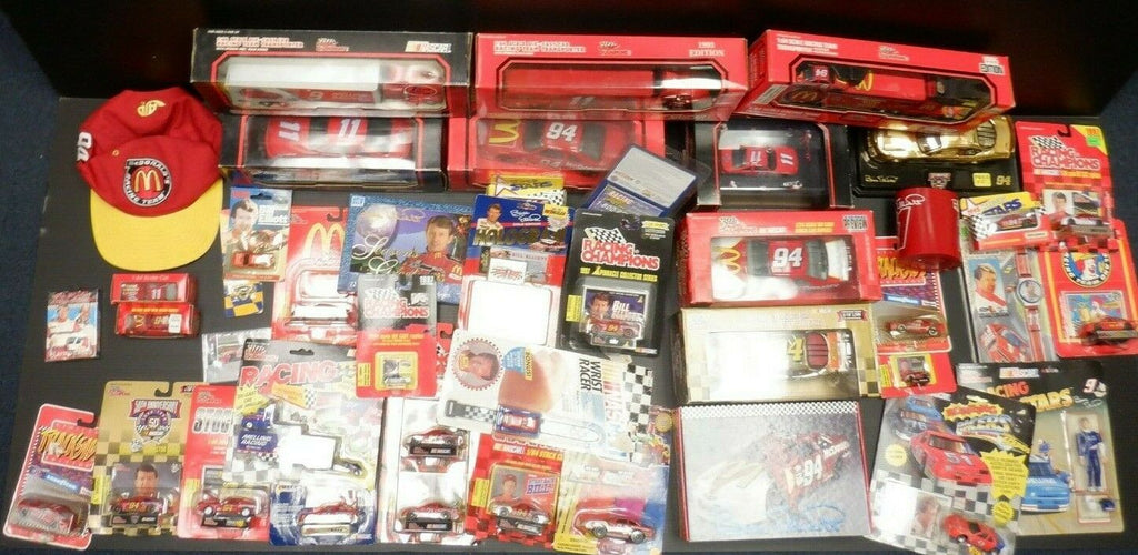 Bill Elliott Lot of 1:24 - 1:64 Die-Cast & Other Accessories NASCAR Lot of 40+