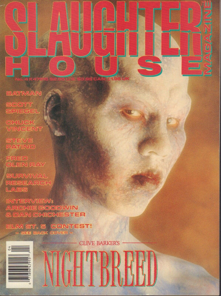 Slaughter House Magazine No.4 Nightbreed Batman Scott Spiegel 022718DBE
