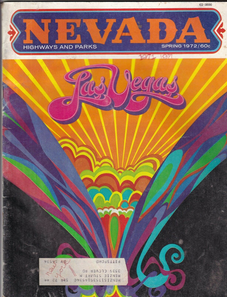Nevada Mag Las Vegas Highways And Parks Magazine Spring 1972 090319nonr