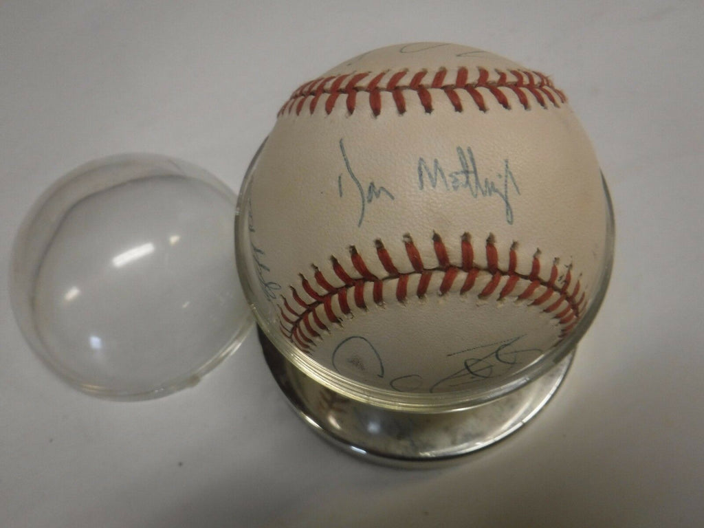 Ken Kaiser AL Umpire Charity Autographed Baseball Don Mattingly Raines+103017jh3