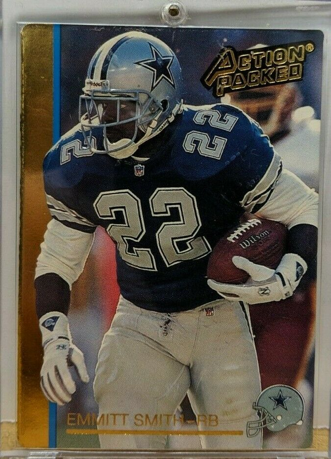 Emmitt Smith Dallas Cowboys SIGNED Action Packed Prototypes 92N w/COA 031919DBCD