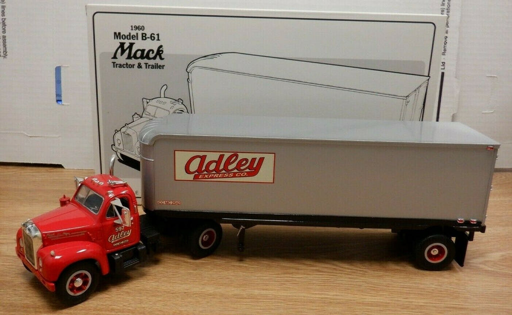 Adley Express 1960 Model B-61 Mack Tractor & Trailer 1/34 1st gear 111519DBT2