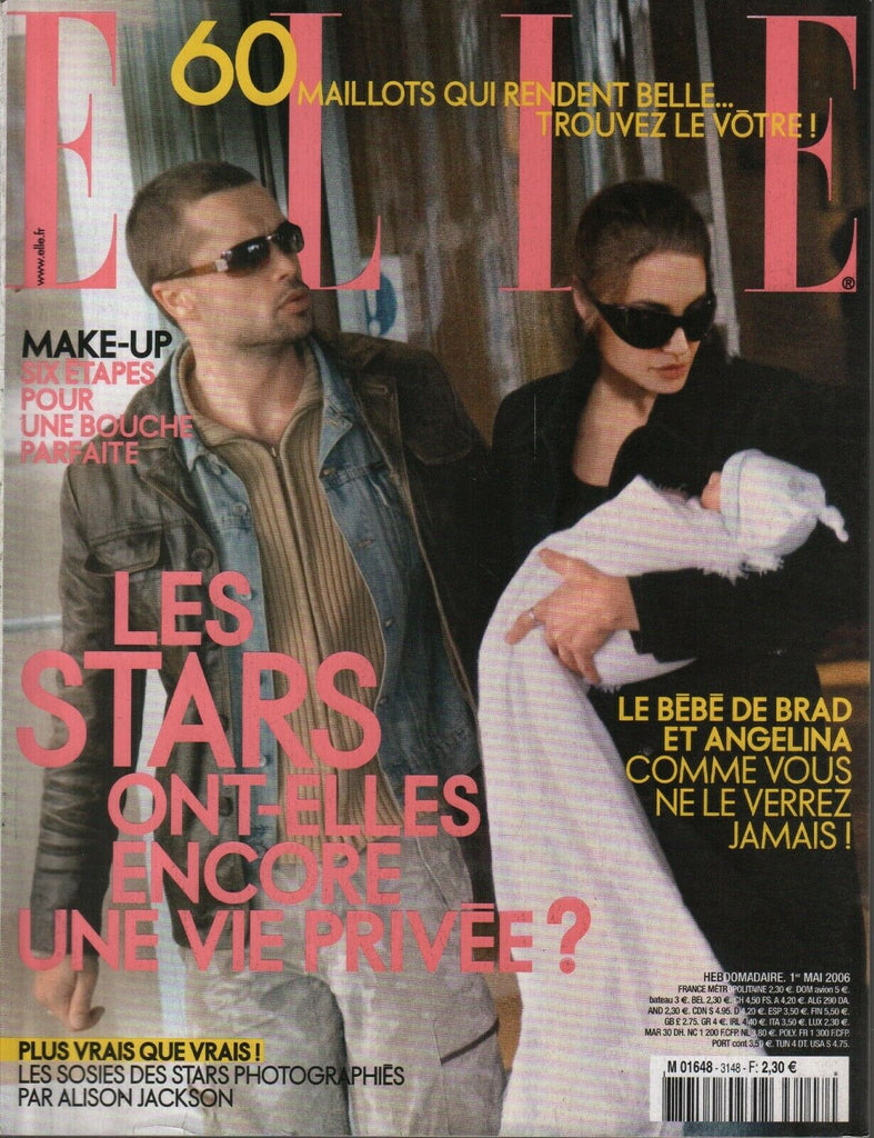 Elle French Fashion Magazine 1 Mai 2006 Brad Pitt Angelina Jolie 091819AME