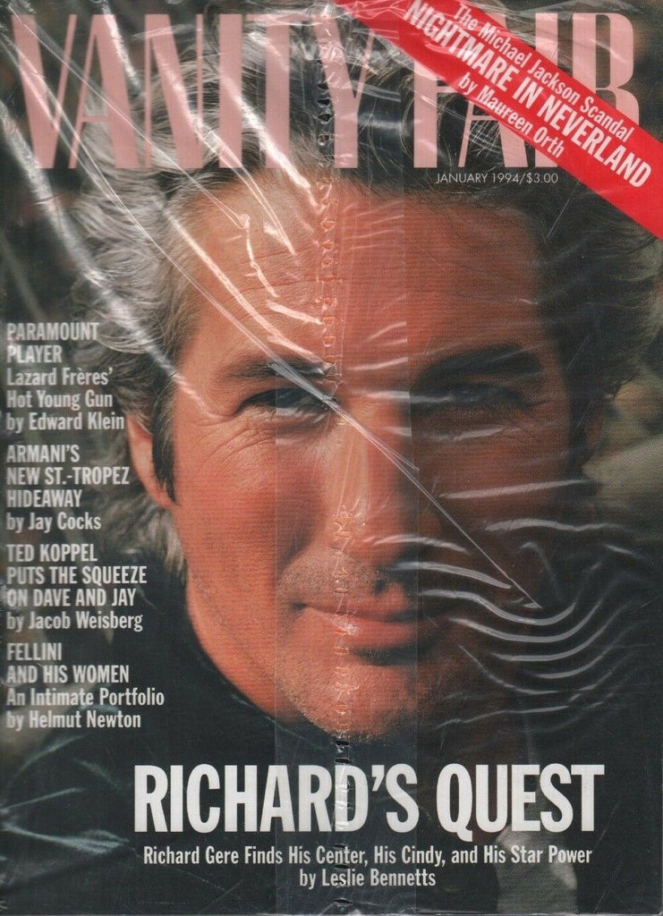 Vanity Fair January 1994 Richard Gere Ted Koppel Michael Jackson 100818ame2