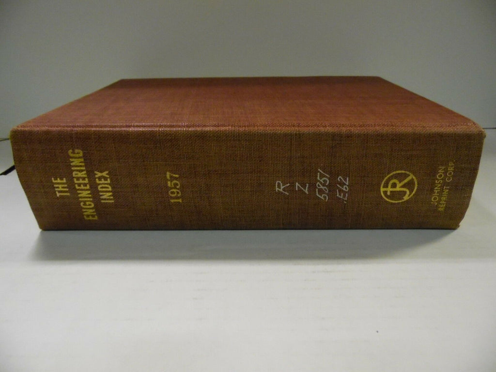 The Engineering Index 1957 American Society Mechanical Engineers FAA 102518AME7
