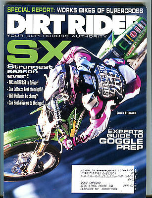 Dirt Rider Magazine April 2002 James Stewart EX 073016jhe