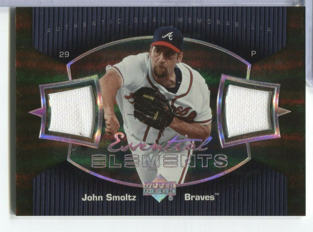 John Smoltz Braves Upper Deck Essential Elements Jersey Card EE-SM 100219DBCD2