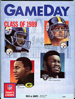 Game Day Magazine Bills vs. Saints August 19 1989 EX 040516jhe