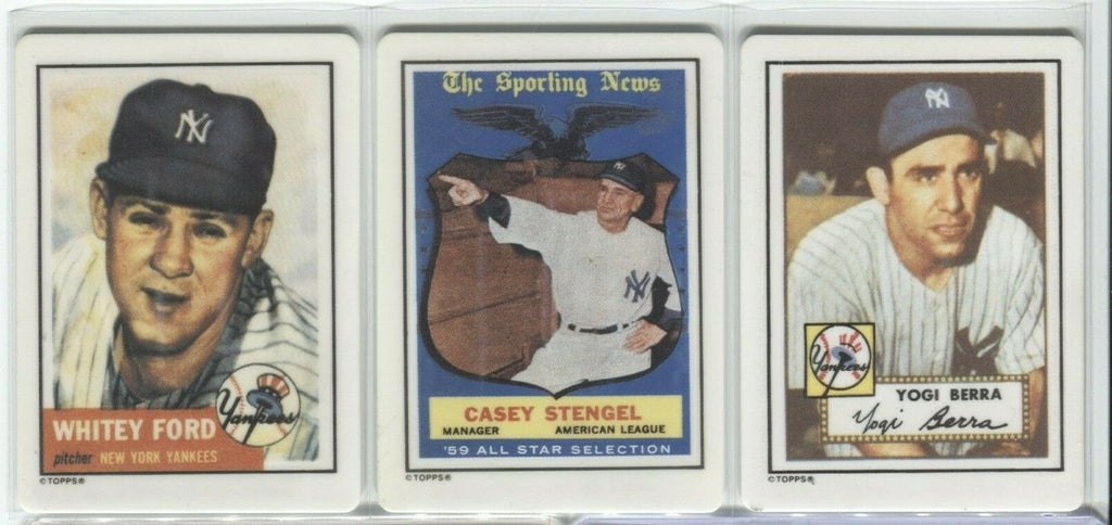 Stengel Berra Ford Topps 1990 Hamilton Collection Baseball Cards 120419DBCD