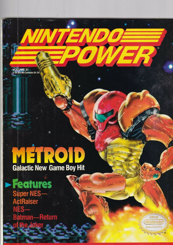 Nintendo Power Mag Metroid Batman Return Of The Joker December 1991 092419nonr