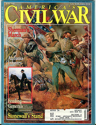 America's Civil War Magazine July 1990 Sherman's March EX 072116jhe
