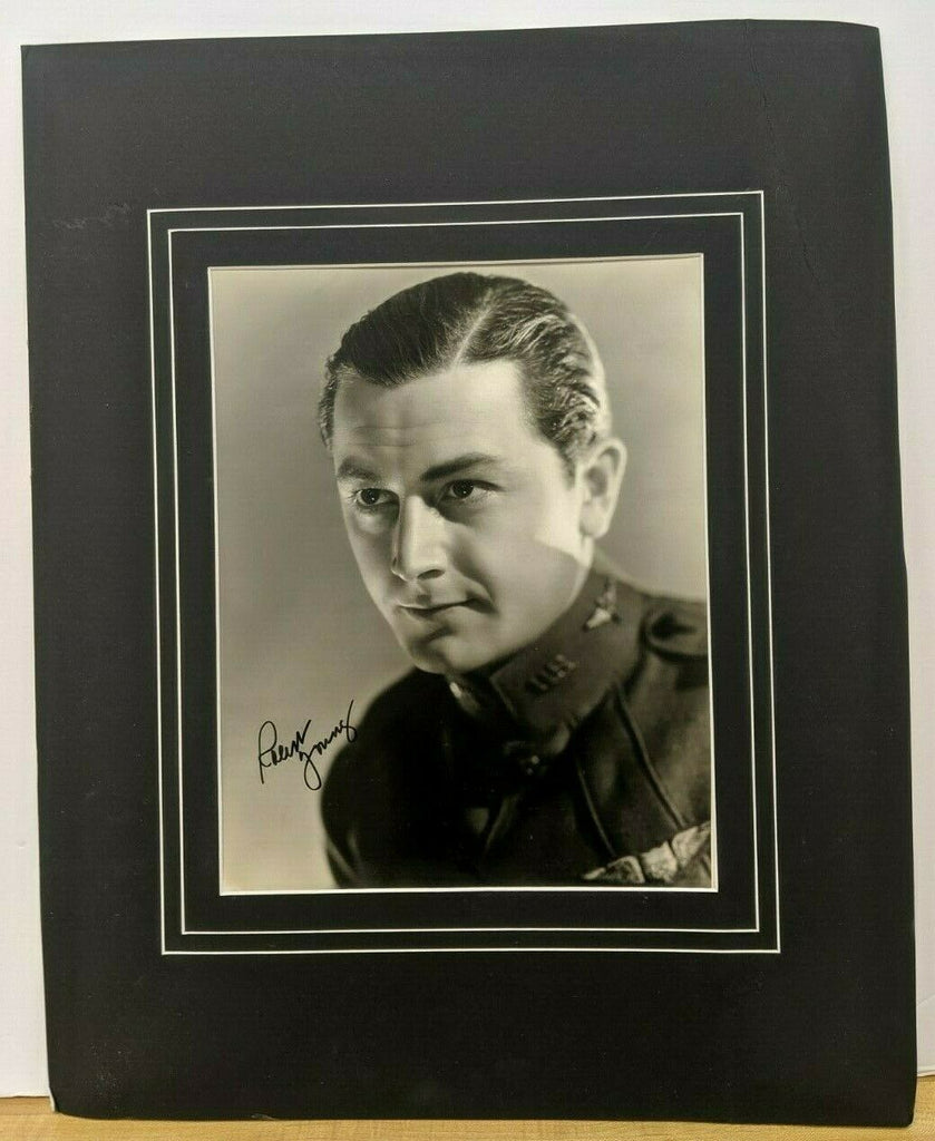 "Robert Young Autographed Signed 14x11"" In 16x20"" Mat w/COA"