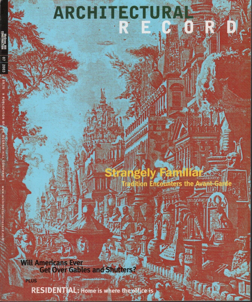 Architectural Record July 2003 Avant-Garde, Gables & Shutters 072517nonDBE2