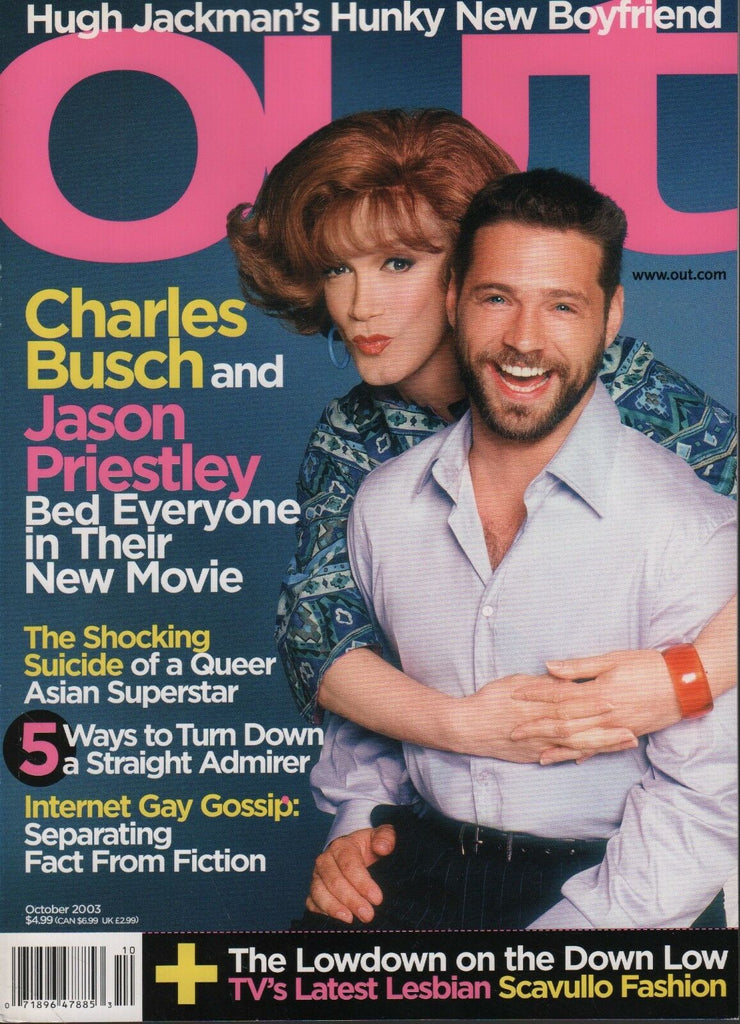 Out October 2003 Hugh Jackman Charles Busch Jason Priestley Scavullo 060618DBF