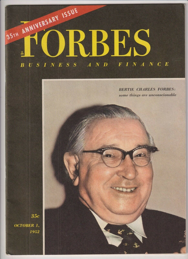 Forbes Mag Bertie Charles Forbes October 1, 1952 110119nonr