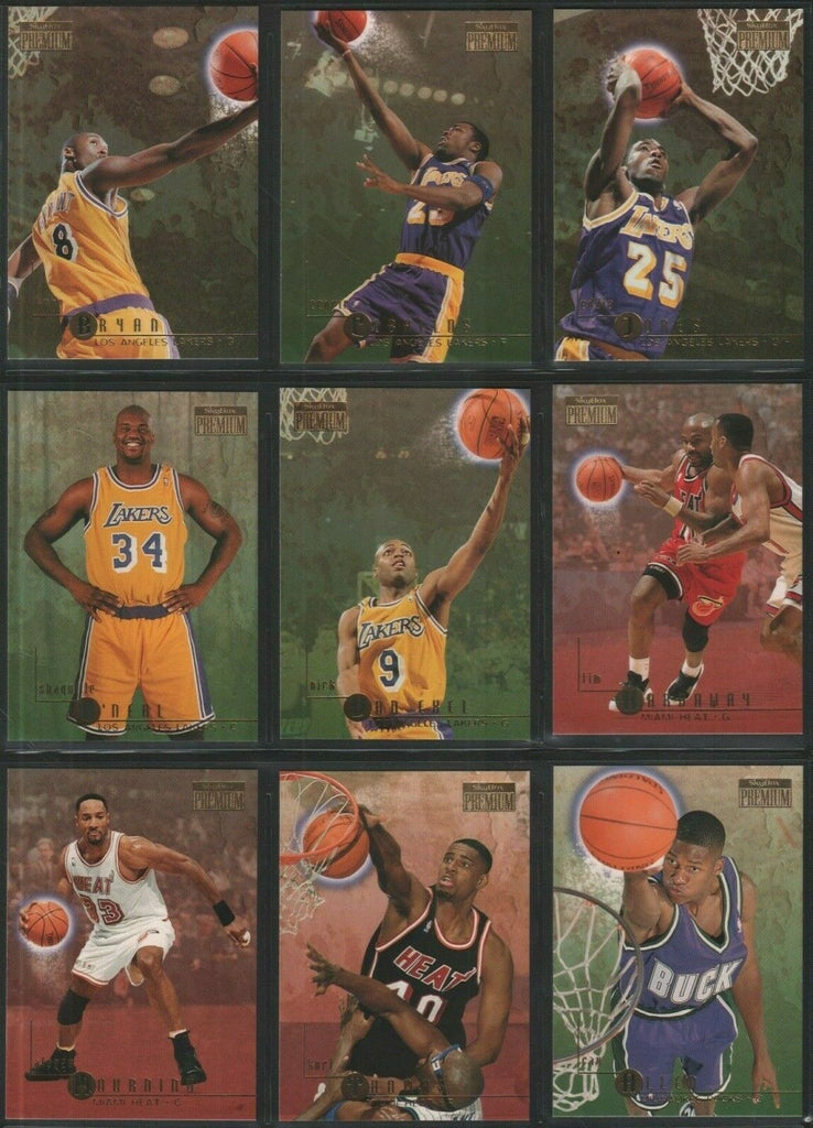 Skybox Premium 96-97 Complete Set Series 1 & 2 1-281 with Kobe Bryant RC #55
