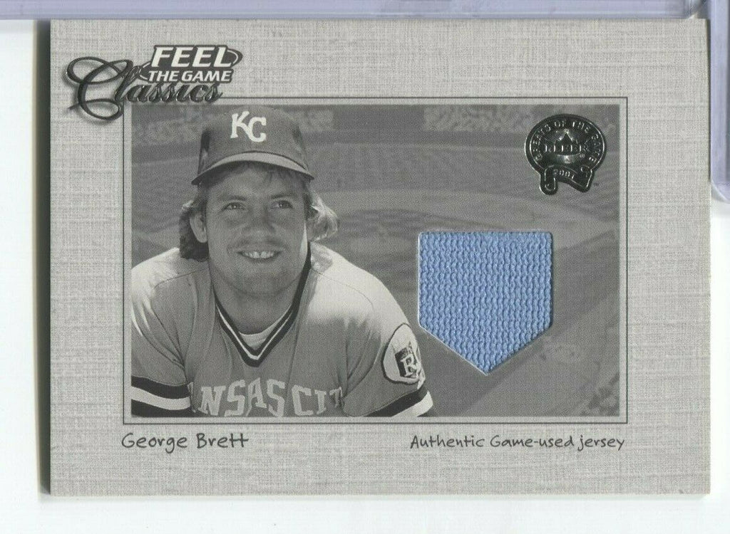 George Brett KC Royals Fleer 2001 Classics Jersey Card 100219DBCD