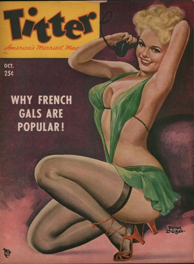 Titter Pinup Mag October 1951 Peter DriBen Cover Debby Adverse 071719DBE