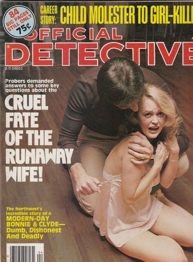 Official Detective Modern Day Bonnie & Clyde April 1980 070319nonr
