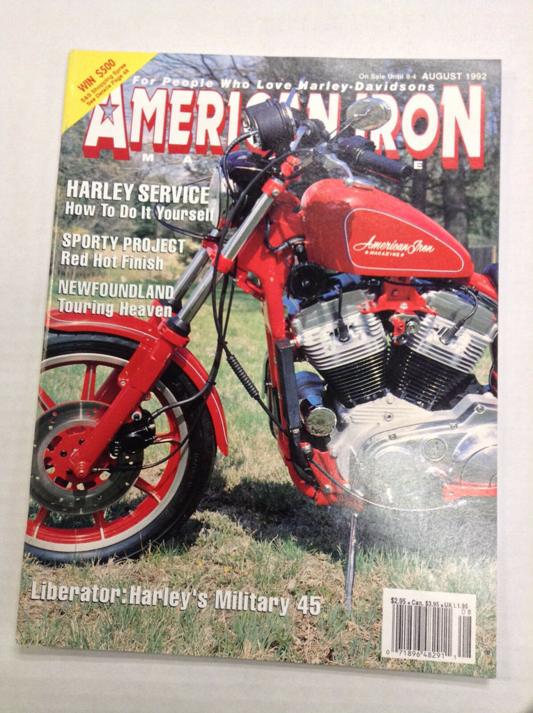American Iron Magazine Sporty Project Newfoundland August 1992 031017NONRH