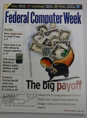 Federal Computer Week Magazine Money For IT Programs November 2000 071415R