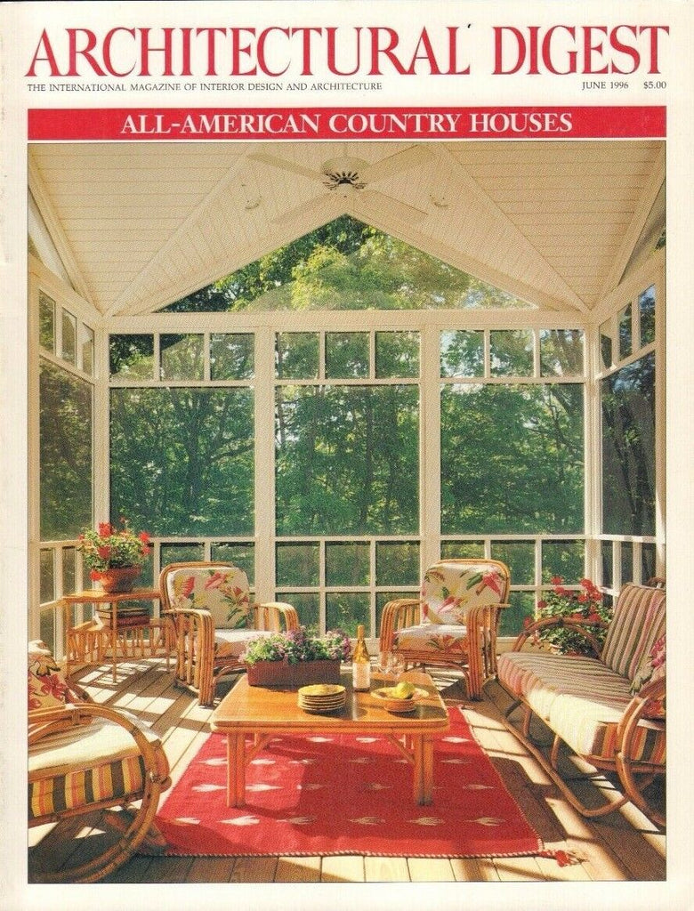 Architectural Digest June 1996 All-American Country Houses 021517DBE