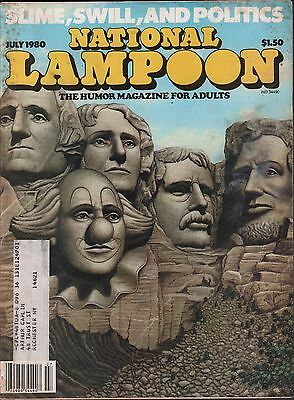National Lampoon July 1980 Politics Issue w/ML EX 122915DBE