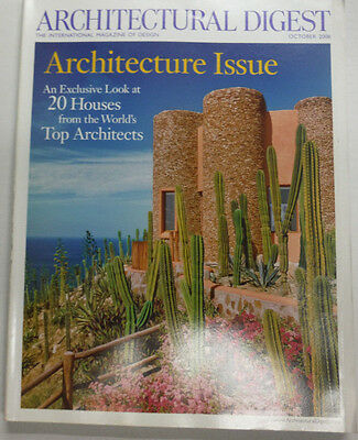 Architectural Digest Magazine 20 Houses Of Top Architects October 2006 070615R