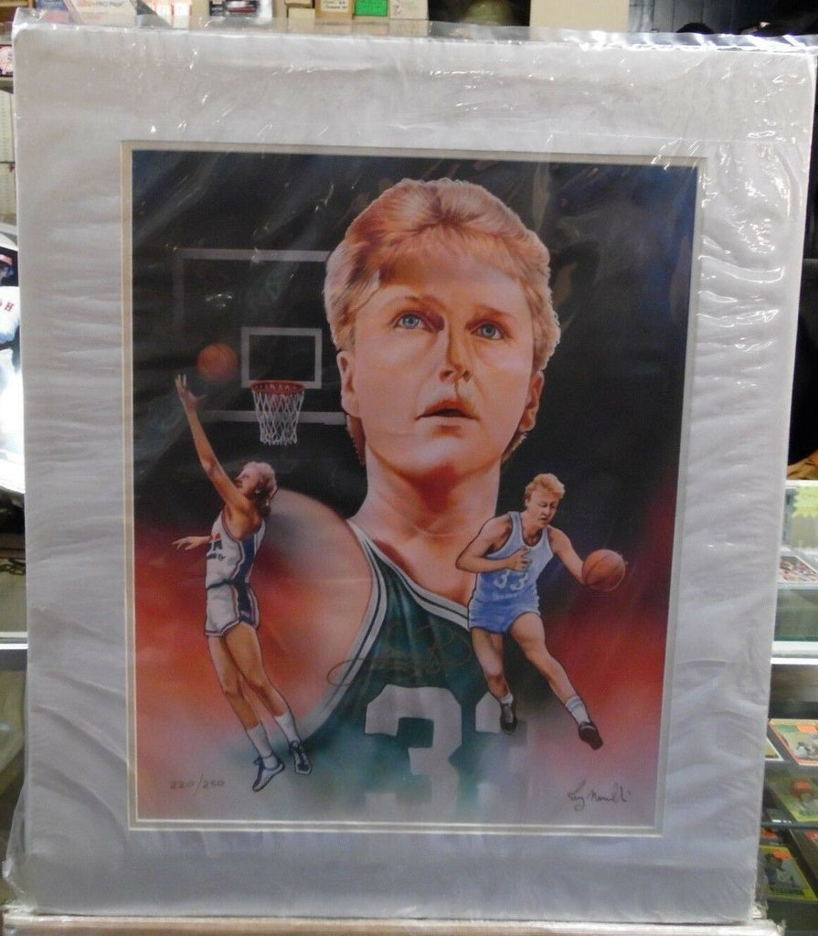 Larry Bird Boston Celtics Hand Signed Lithograph 220/250 w/COA