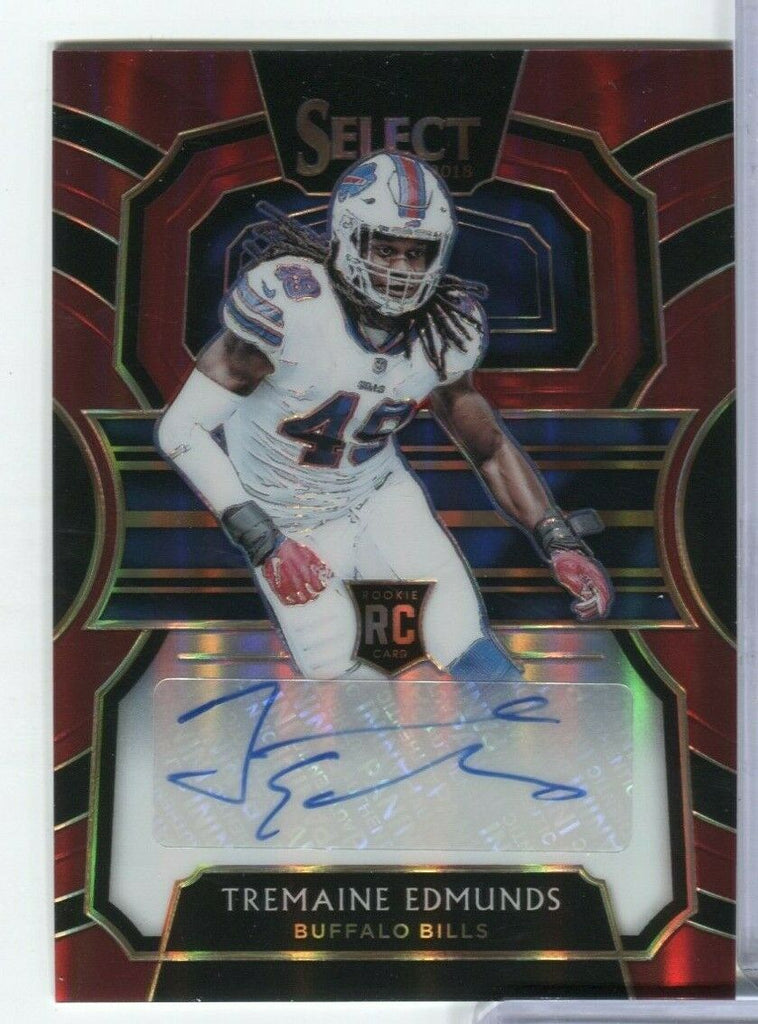 Tremaine Edmunds Bills RC Signed Select 68/75 RS-TE Panini 100219DBCD2