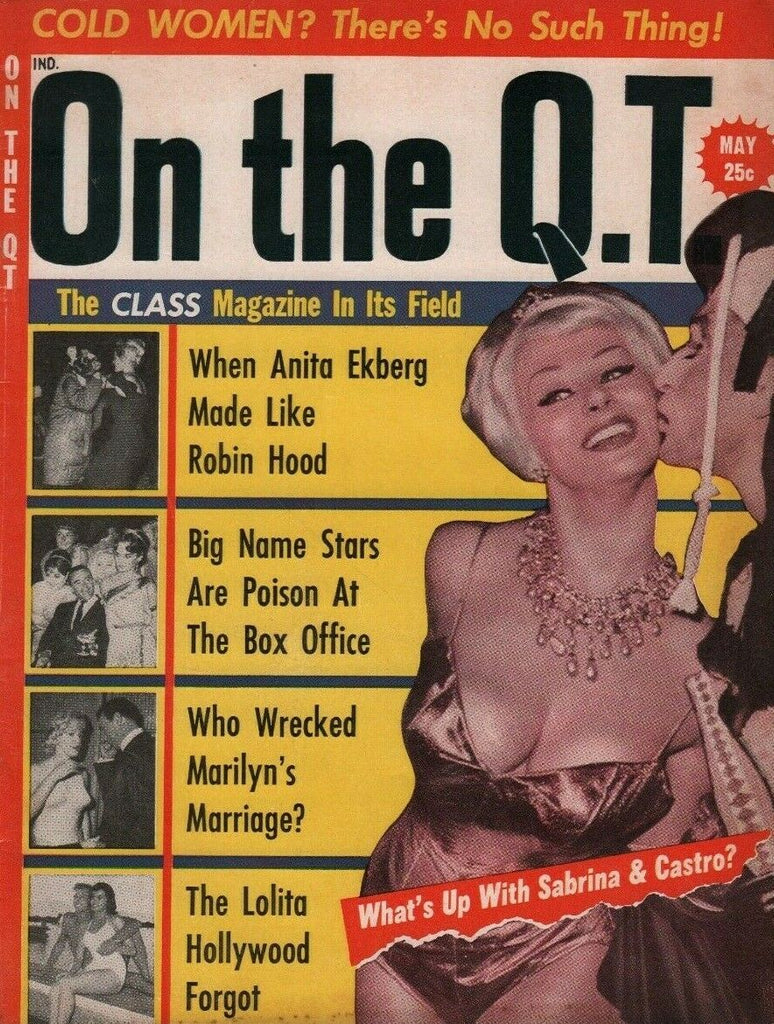 On The QT May 1961 Marilyn Monroe Anita Ekberg 032719DBE