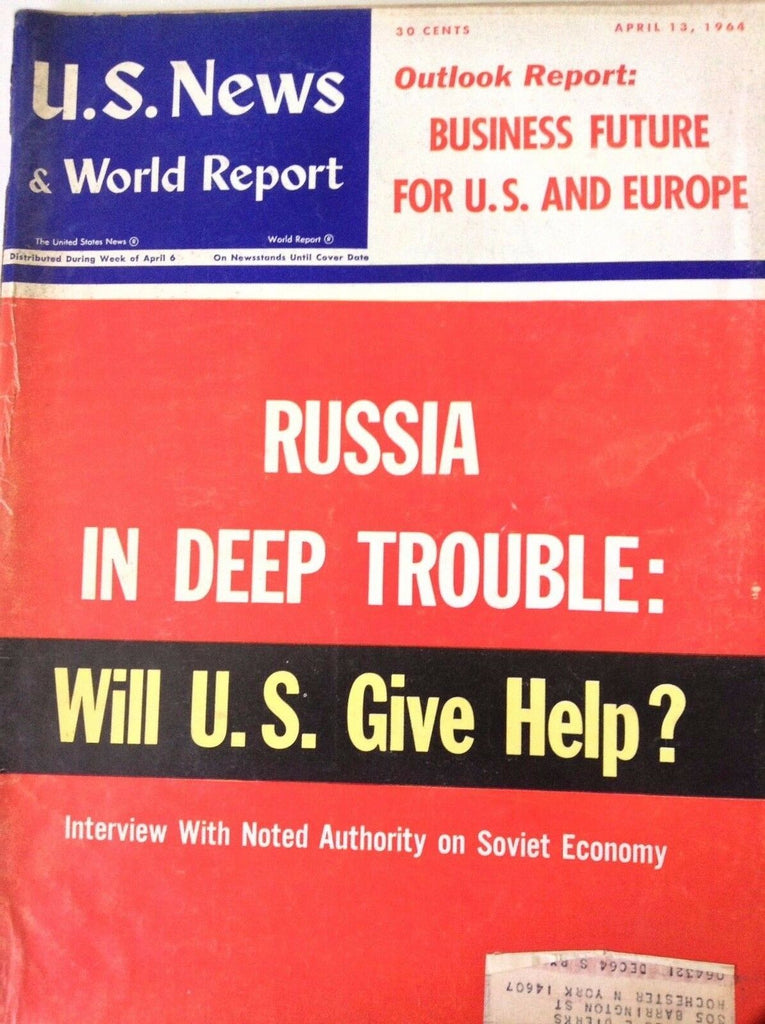 US News Magazine Russia In Trouble April 13, 1964 090217nonrh